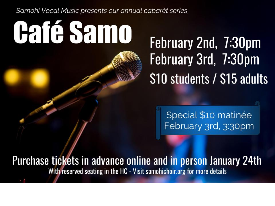 Cafe Samo promo artwork 2018
